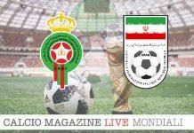 Marocco Iran cronaca diretta risultato in tempo reale