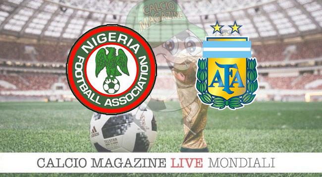 Nigeria Argentina cronaca diretta risultato in tempo reale