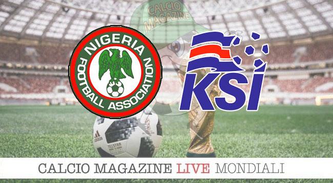 Nigeria Islanda cronaca diretta risultato in tempo reale