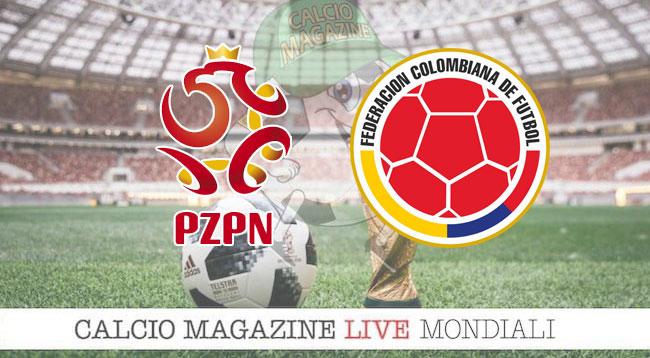 Polonia Colombia cronaca diretta risultato in tempo reale