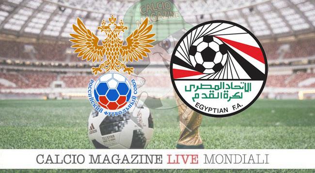 Russia - Egitto 3-1: cronaca in diretta, risultato in tempo reale