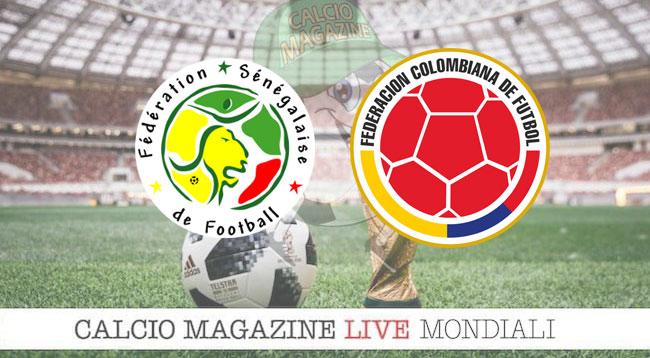 Senegal Colombia cronaca diretta risultato in tempo reale