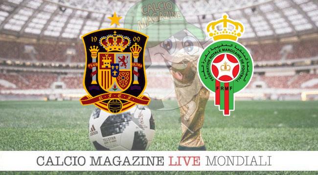 Spagna Marocco cronaca diretta risultato in tempo reale