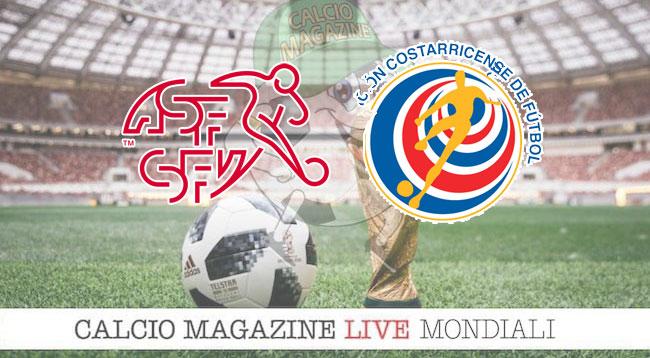 Svizzera - Costa Rica 2-2, il tabellino