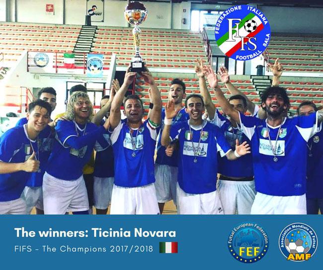 La Ticinia Novara conquista 6° scudetto FIF
