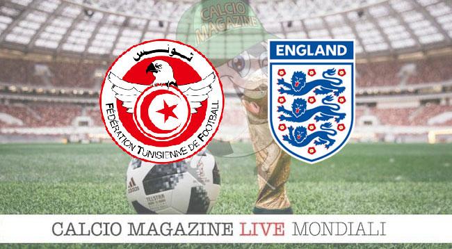Tunisia Inghilterra cronaca diretta risultato in tempo reale