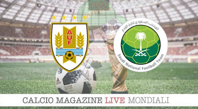 Uruguay Arabia Saudita cronaca diretta risultato in tempo reale