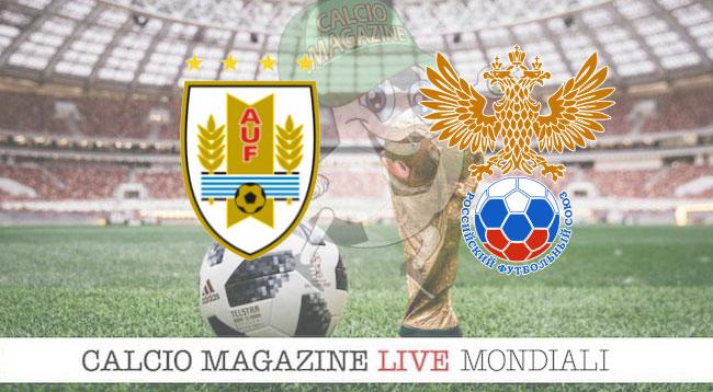 Uruguay Russia cronaca diretta risultato in tempo reale
