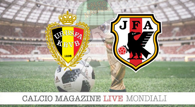 Belgio Giappone cronaca diretta risultato in tempo reale