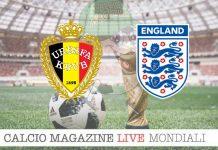 Belgio Inghilterra cronaca diretta risultato in tempo reale