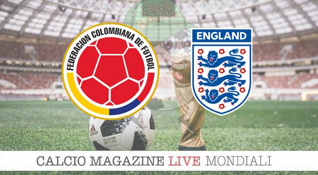 Colombia Inghilterra cronaca diretta risultato in tempo reale