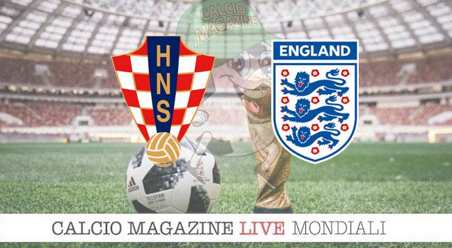 Croazia Inghilterra cronaca diretta risultato in tempo reale