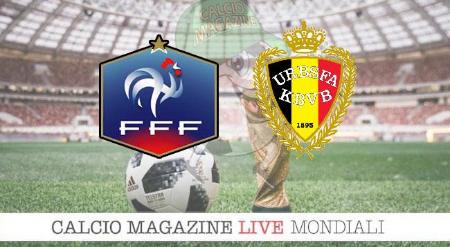 Francia Belgio cronaca diretta risultato in tempo reale