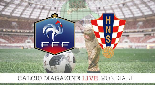 Francia Croazia cronaca diretta risultato in tempo reale