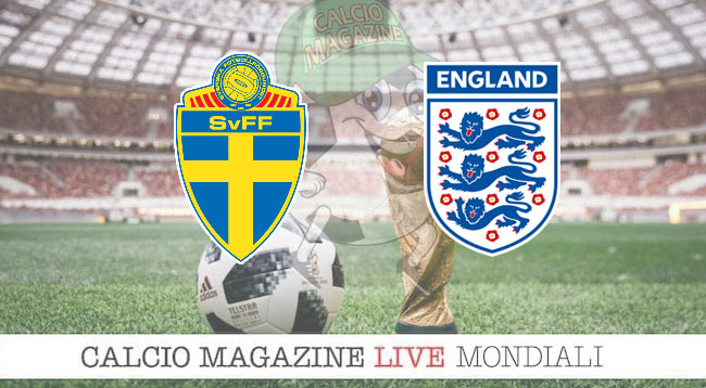 Svezia Inghilterra cronaca diretta risultato in tempo reale