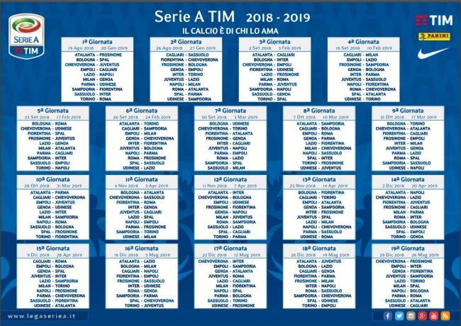 Serie A 2018/2019 - Il programma dei derby e dei big match