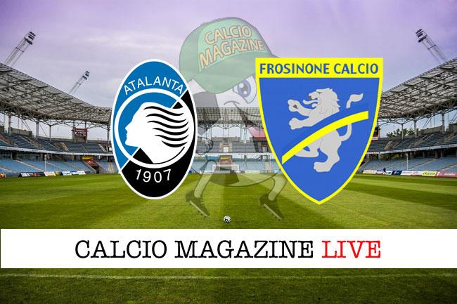 Atalanta Frosinone diretta tabellino risultato tempo reale