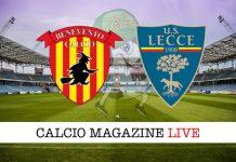 Benevento Lecce cronaca diretta risultato tempo reale