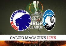 Copenaghen Atalanta cronaca diretta risultato live