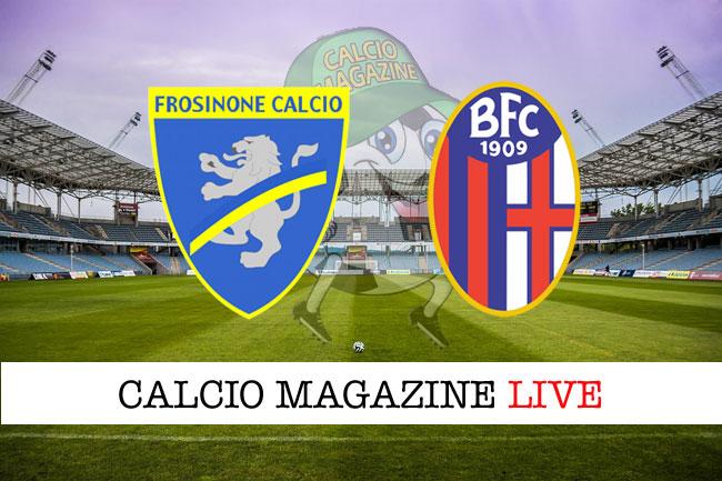 Frosinone Bologna live tabellino risultato diretta