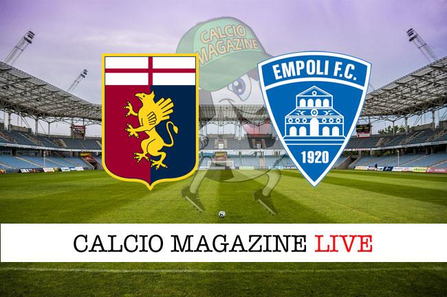 Genoa Empoli live tabellino risultato diretta