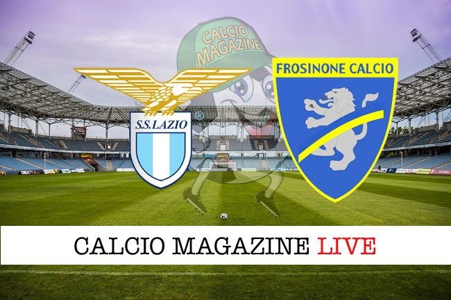 Lazio Frosinone live tabellino risultato diretta