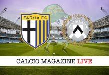 Parma Udinese cronaca diretta risultato tabellino tempo reale