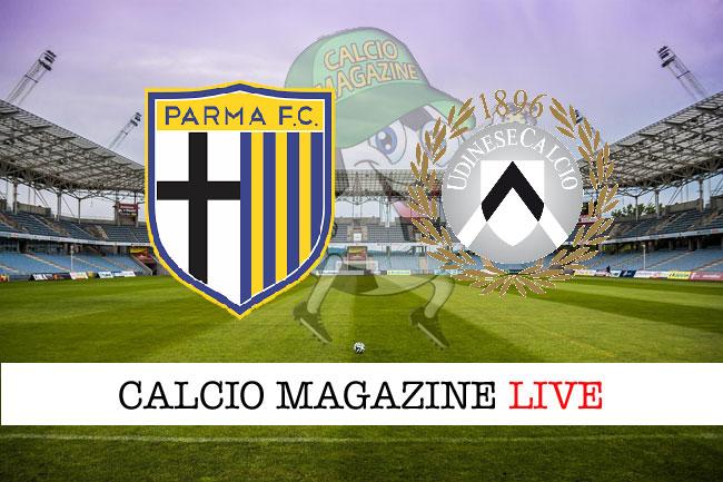 Parma Udinese cronaca diretta live risultato tabellino tempo reale