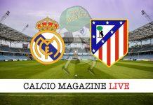 Real Madrid Atletico Madrid: cronaca diretta risultato live