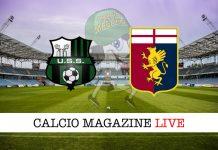 Sassuolo Genoa live risultato tabellino diretta