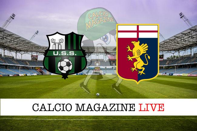 Sassuolo - Genoa, le formazioni ufficiali