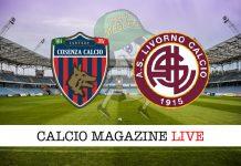 Cosenza Livorno cronaca diretta risultato tempo reale