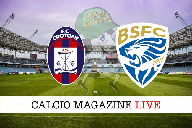 Crotone Brescia live risultato tempo reale