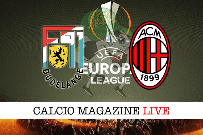 Dudelange Milan Lazio Apollon cronaca diretta risultato live