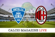 Empoli Milan live cronaca risultato in tempo reale