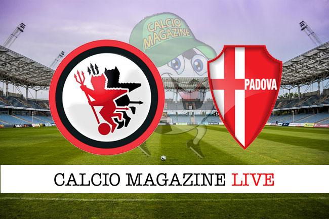 Foggia Padova live cronaca risultato tempo reale