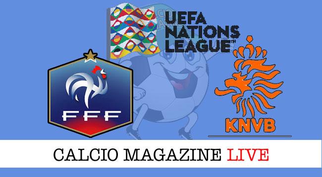 Francia Olanda cronaca diretta risultato live
