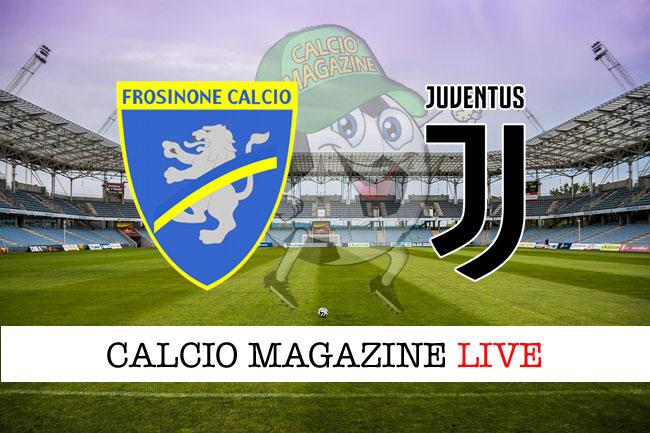 Frosinone Juventus live cronaca risultato tempo reale