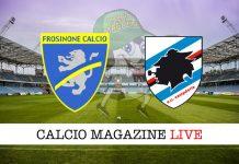 Frosinone Sampdoria cronaca diretta risultato live