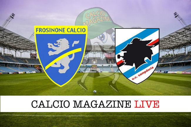 Frosinone - Sampdoria 0-5, il tabellino
