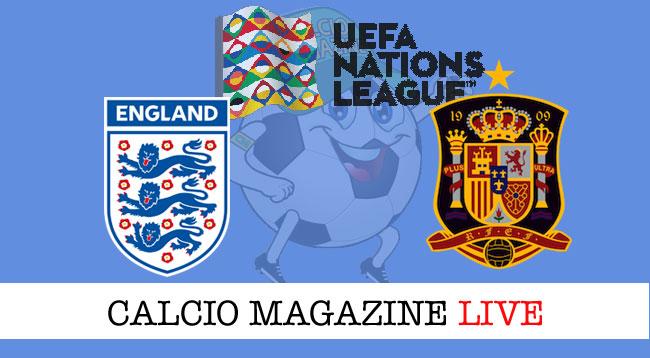Inghilterra Spagna cronaca diretta risultato live