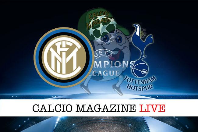 Inter Tottenham cronaca diretta risultato live