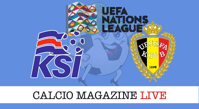 Islanda Belgio cronaca diretta risultato live