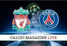 Liverpool PSG live cronaca diretta risultato