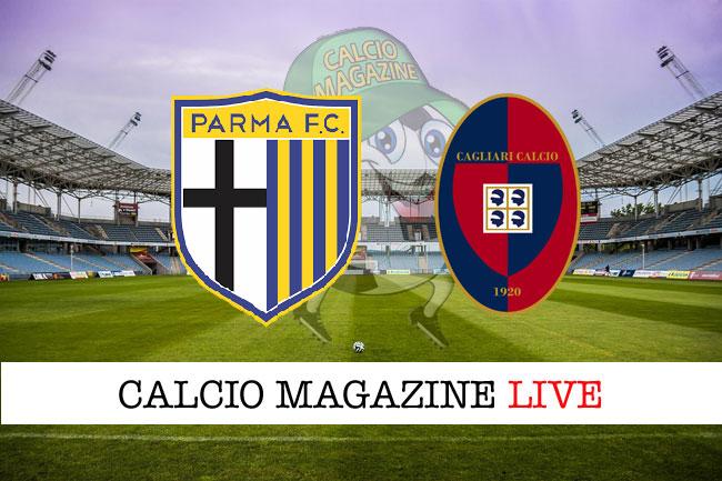 Parma Cagliari live cronaca risultato tempo reale