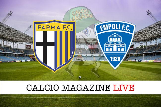 Parma Empoli cronaca diretta risultato tempo reale