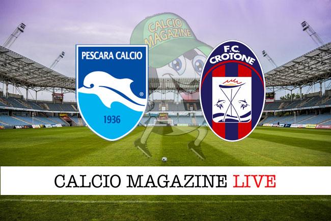 Pescara Crotone cronaca diretta live risultato in tempo reale