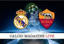 Real Madrid Roma cronaca diretta risultato live
