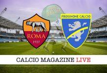 Roma Frosinone live cronaca risultato tempo reale