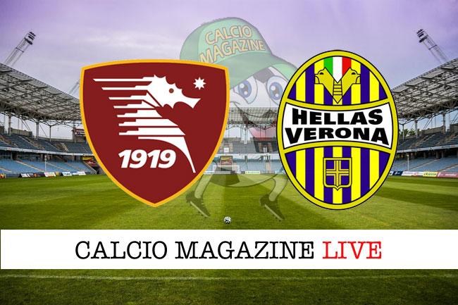 Salernitana Verona live cronaca risultato tempo reale